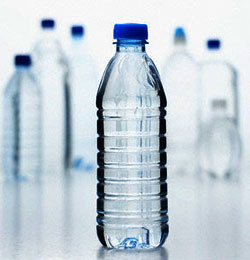 plastic bottle with water in side
