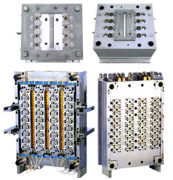 plastic bottle injection molds and preform making molds