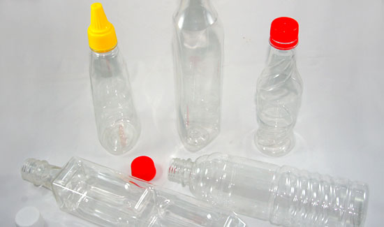 PET bottles, plastic containers
