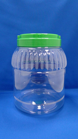 Pleastic Fles - PET-ronde en Stripe plastic flessen (J1120)