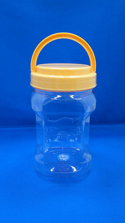 Pleastic Bote - PET Square at Grip Plastic Bottles (D804)