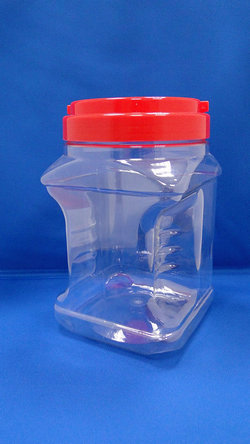 Pleastic Bottle - PET Square and Grip Plastic Bottles (J1804)