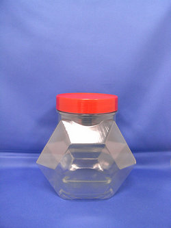 Pleastic Bottle - PVC Hexagonal Plastic Bottles-351